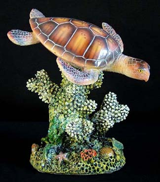 Hand Painted Single Sea Turtle Figurine