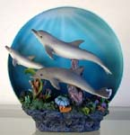 Triple Dolphins 3-D Collectible Plate