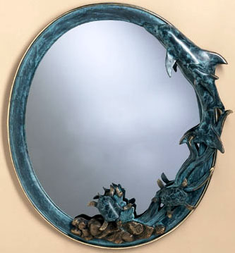 Sea World Oval Wall Mirror
