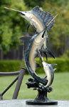 Imperial Slam Marlin & Sailfish Sculpture