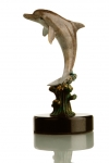 Hot Patina Single Dolphin Figurine