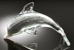 Art Glass Clear Dolphin