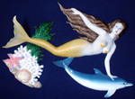 Mermaid & Dolphin Wall Sculpture (Y)