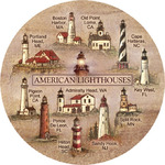American Lighthouses Coasters