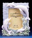 Four Ivory Dolphin Photo Frame