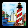 Lighthouse & Sailboats Magnet
