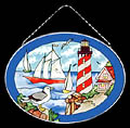 Lighthouse & Sailboat Sun Catcher