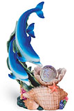 Blue Dolphins Sculpture with Led Crystal Ball