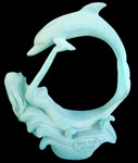 Playing Mermaid & Dolphin NeoLucite Sculpture