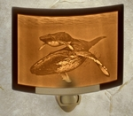 Mother and Baby Humpback Whales Night Light