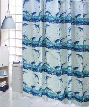 Joyful Dolphin Shower Curtain