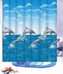 Mother & Baby Dolphin Shower Curtain   FREE SHIPPING!
