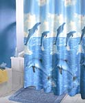 Dancing Dolphin Shower Curtain   FREE SHIPPING!