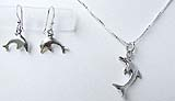Dolphin Necklace & Earrings Set